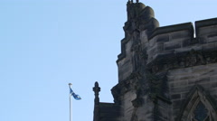 Bas relief on St Giles' Cathedral in Edinburgh, UK Stock Footage