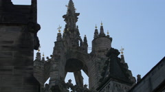 St Giles' Cathedral tower in Edinburgh, UK Stock Footage