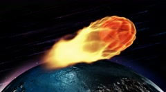 Flaming Basketball through Space 4K Loop Stock Footage