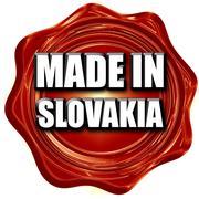 Made in slovakia - stock illustration