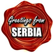 Stock Illustration of Greetings from serbia