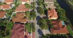 Suburban Homes Aerial in ANYWHERE USA Stock Footage