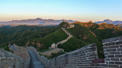Great Wall of China at Sunrise. ( 4k Time-Lapse Video) Arkistovideo