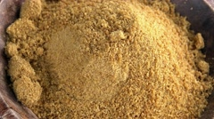 Coconut Sugar (not loopable; 4K) Stock Footage
