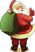 Christmas holidays stock santa clause image royalty free and affordable downl - stock illustration