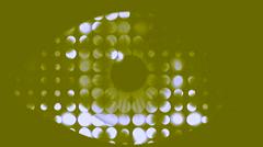 Vj Loop Effected Eye Close Up Art Visual Stock Footage