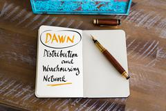 DAWN as Distribution and Warehousing Network - stock photo