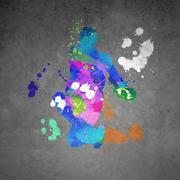 Abstract dancer Stock Illustration