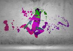 Abstract dancer - stock illustration