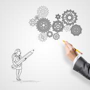 Business collaboration and organization - stock illustration