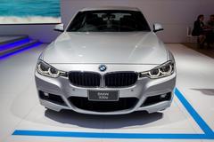 BMW 330e,a plug-in hybrid sedan - stock photo