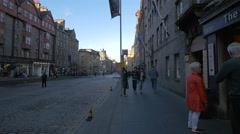 Walking on the Royal Mile, Edinburgh - stock footage