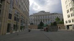 Palais Coburg seen from Gartenbaupromenade in Vienna Stock Footage