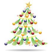 Stock Illustration of Decorated Christmas tree