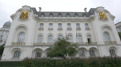 The French Embassy in Vienna Stock Footage