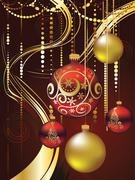 Decorative Christmas Ornaments Stock Illustration
