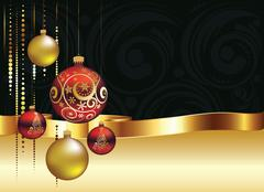 Decorative Christmas Ornaments Stock Illustration