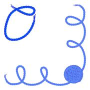 Letter O. Alphabet font vector - yarn, rope, cable Stock Illustration