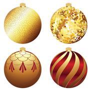 Decorative Xmas Balls Stock Illustration