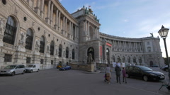 The Neue Burg section of Hofburg Palace in Heldenplatz, Vienna Stock Footage