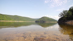 Dolly Panoramic Shot Of The Lake Zetelak Stock Footage
