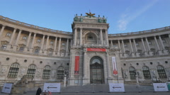 Beautiful view of the Neue Burg section of Hofburg Palace, Vienna Stock Footage