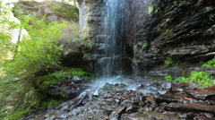 Waterfall in Transylvania Stock Footage