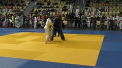 Orenburg, Russia – 05.2016.02.: Girls compete in judo Stock Footage
