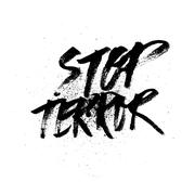 Stop terror. Handdrawn brush ink lettering Stock Illustration