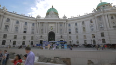 Visiting the Michaelerplatz and the Hofburg Palace in Vienna Stock Footage