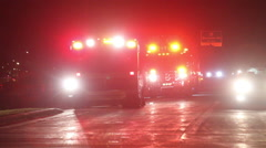 EMS-Fire Personel on SCene Stock Footage