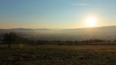 Sunrise in the city, Odorheiu Secuiesc Stock Footage