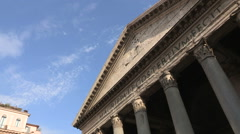 The pantheon in the center of Rome Stock Footage