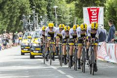 Team LottoNL Jumbo - Team Time Trial 2015 - stock photo