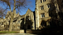 Shot of Yale Campus Stock Footage