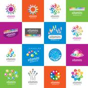vector logo vitamins - stock illustration
