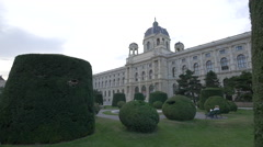 The Museum of Natural History seen at Maria-Theresien-Platz, Vienna Stock Footage