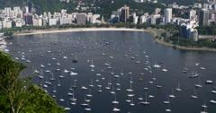 City of Rio de Janeiro, Brazil. Guanabara Bay. Brazilian Olympic games. Stock Footage