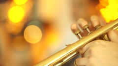 African American jazz musician playing the saxophone Stock Footage