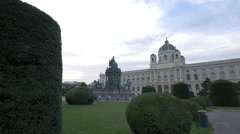 The Maria Theresa Monument and the Museum of Natural History, Vienna Stock Footage