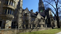 View of Yale Campus Stock Footage