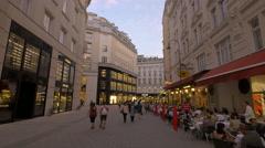 People walking on Bognergasse near Prada store, Vienna Stock Footage