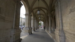 Arched passageway at the State Opera House in Vienna Stock Footage
