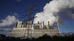 Coal-fired power plant - stock footage