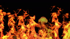 Red fire, high-definition 3d render Stock Footage