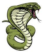 King Cobra Snake - stock illustration