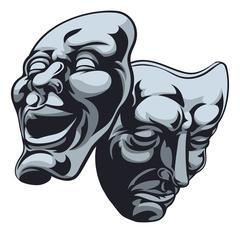 Theater Theatre Masks - stock illustration