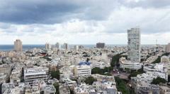 Tel - Aviv cityscape, Israel - stock footage