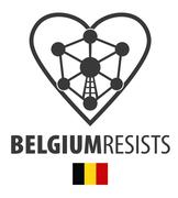 Belgium resists terrorism symbol Stock Illustration