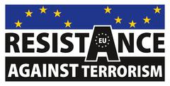 European resistance against terrorism sign Stock Illustration